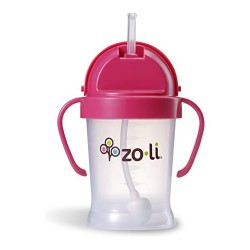Zoli Bot Straw Sippy Cup ( 6 oz) - Pink